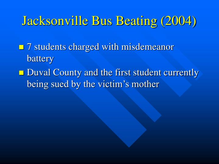 Jacksonville Bus Beating (2004)