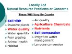 locally led natural resource problems or concerns