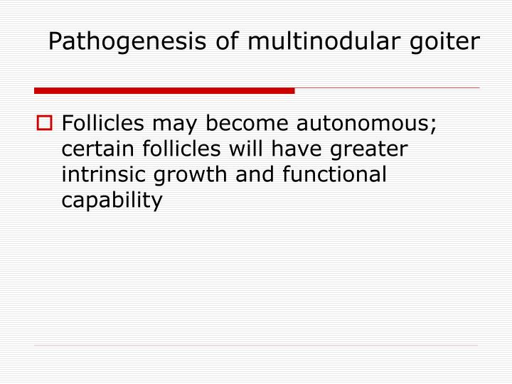 Pathogenesis of multinodular goiter