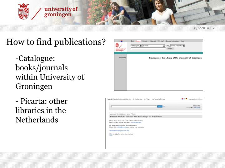 How to find publications?