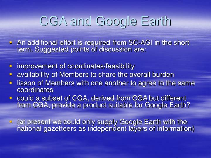 CGA and Google Earth