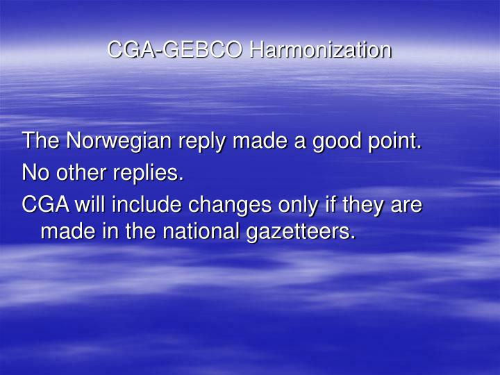 CGA-GEBCO Harmonization