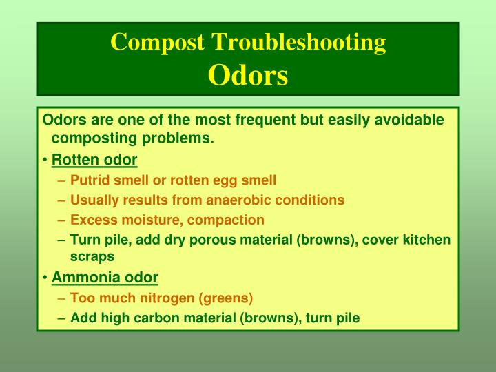 Compost Troubleshooting