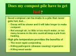 does my compost pile have to get hot