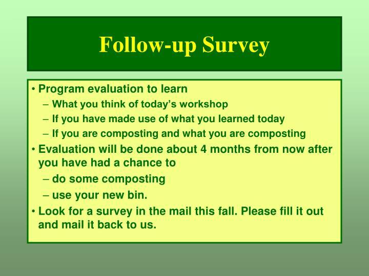 Follow-up Survey
