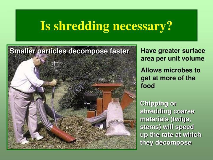 Is shredding necessary?