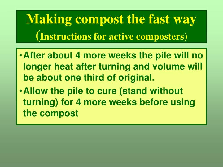 Making compost the fast way