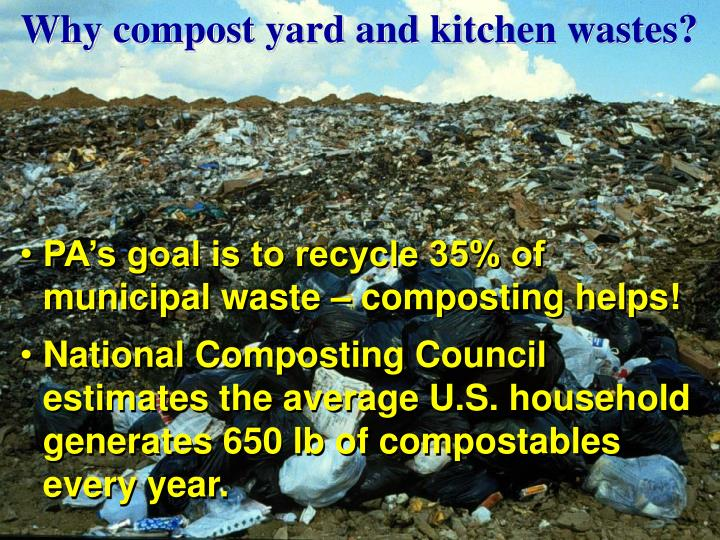 Why compost yard and kitchen wastes?