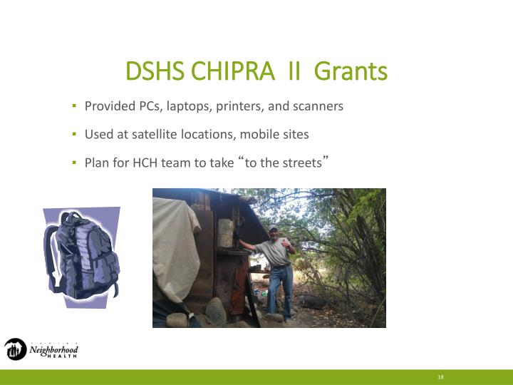DSHS CHIPRA  II  Grants