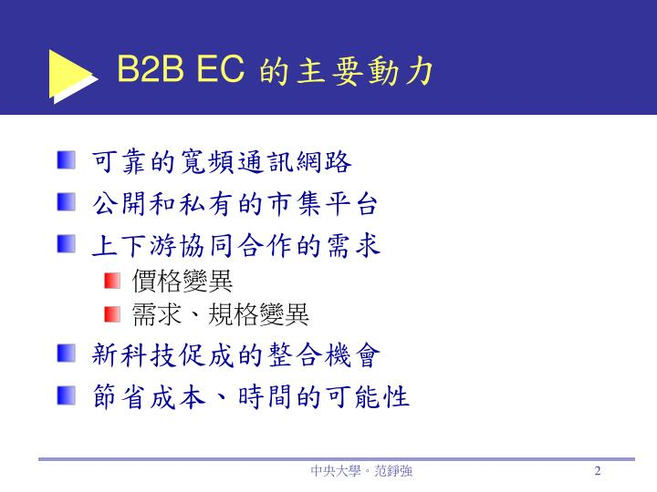 B2B EC