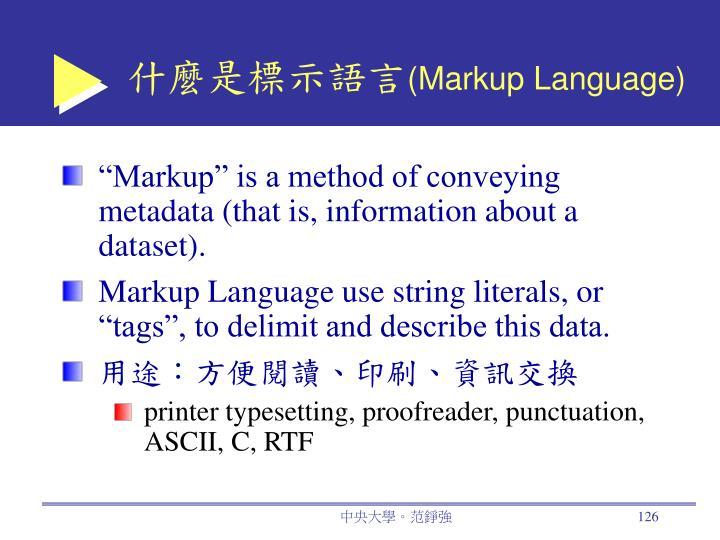 什麼是標示語言