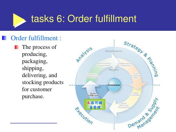 tasks 6: Order fulfillment