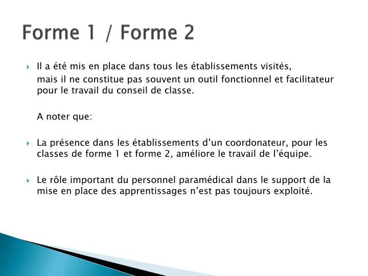 Forme 1 / Forme 2
