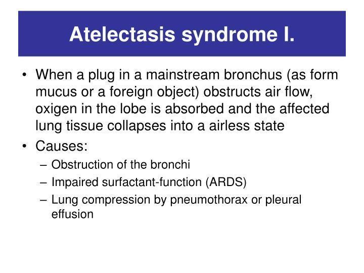 Atelectasis syndrome I.