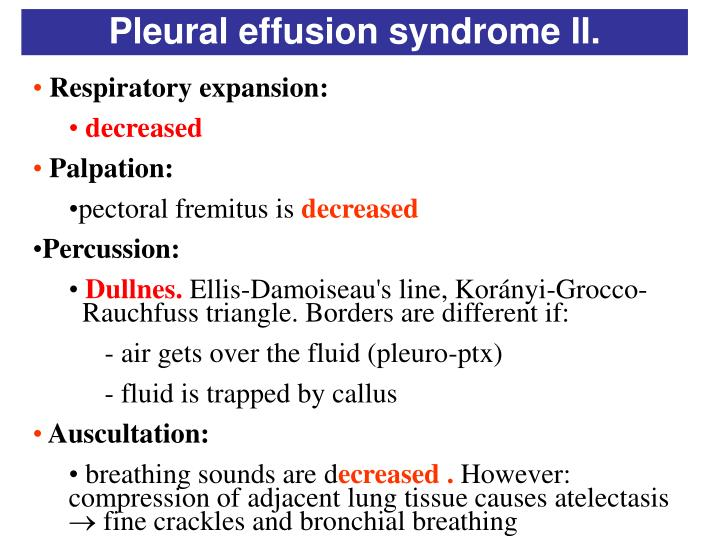 Pleural effusion syndrome