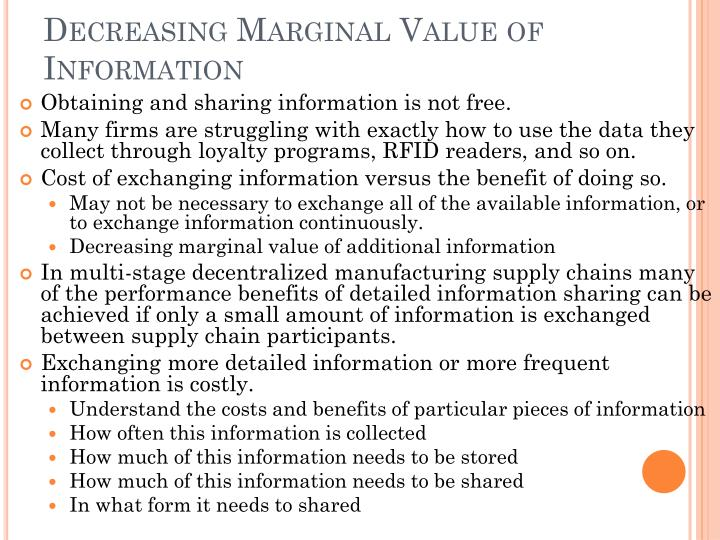 Decreasing Marginal Value of Information