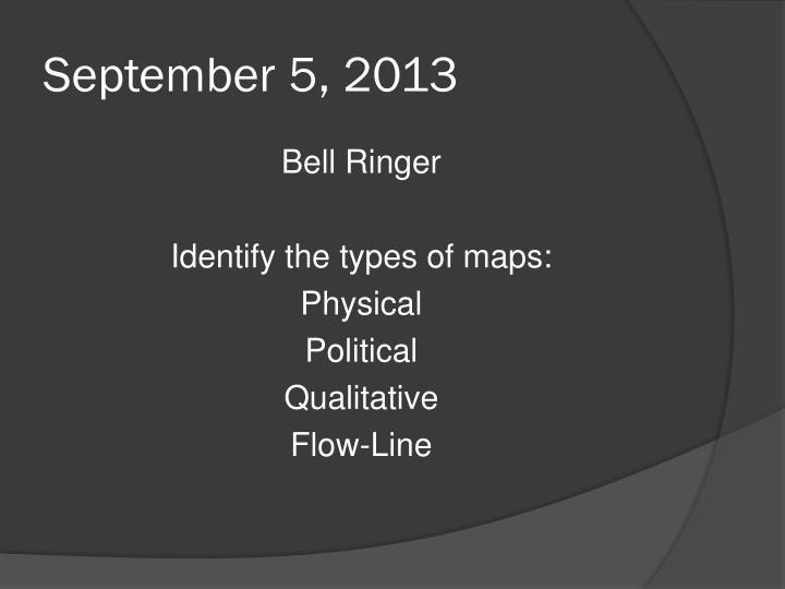 September 5, 2013