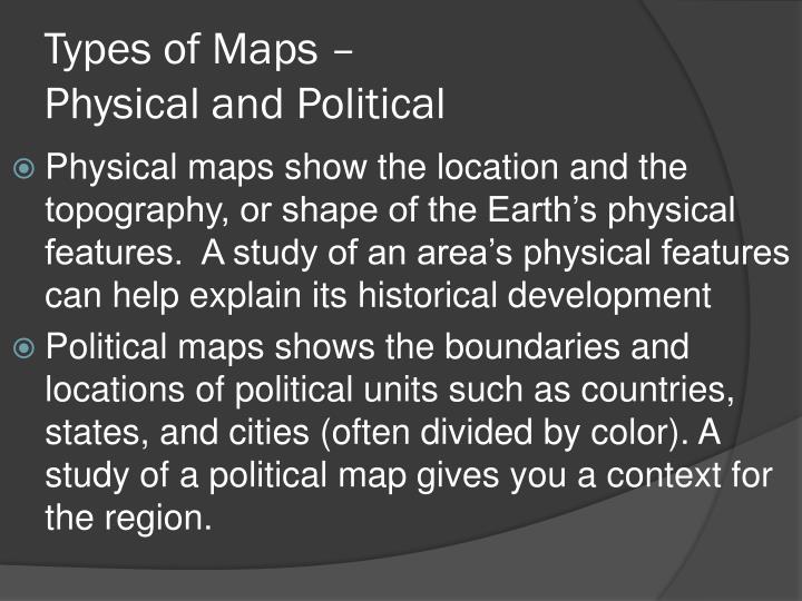 Types of Maps –