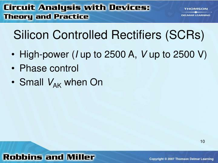 Silicon Controlled Rectifiers (SCRs)