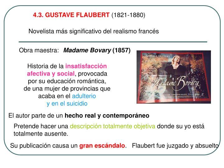 4.3. GUSTAVE FLAUBERT