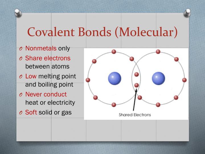 Covalent Bonds (Molecular)