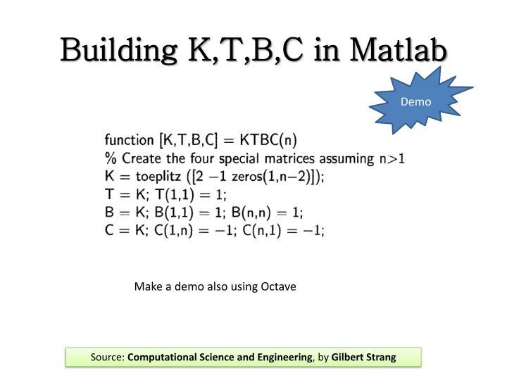 Building K,T,B,C in