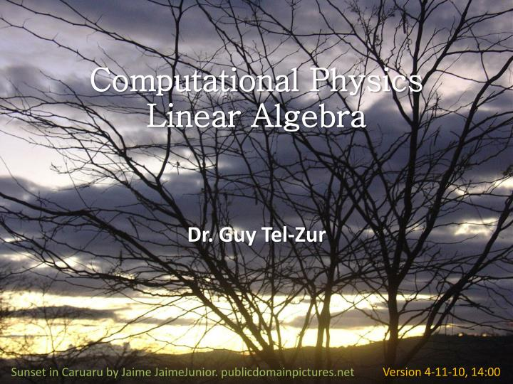 Computational physics linear algebra