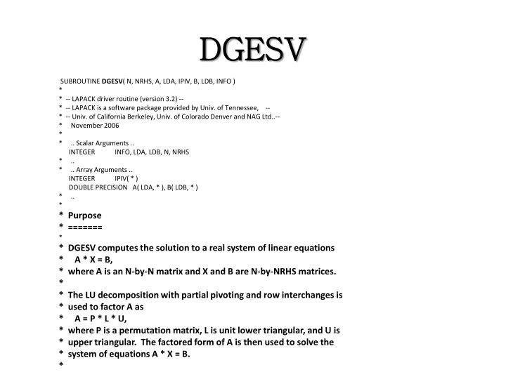 DGESV