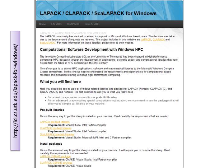 LAPACK / CLAPACK /
