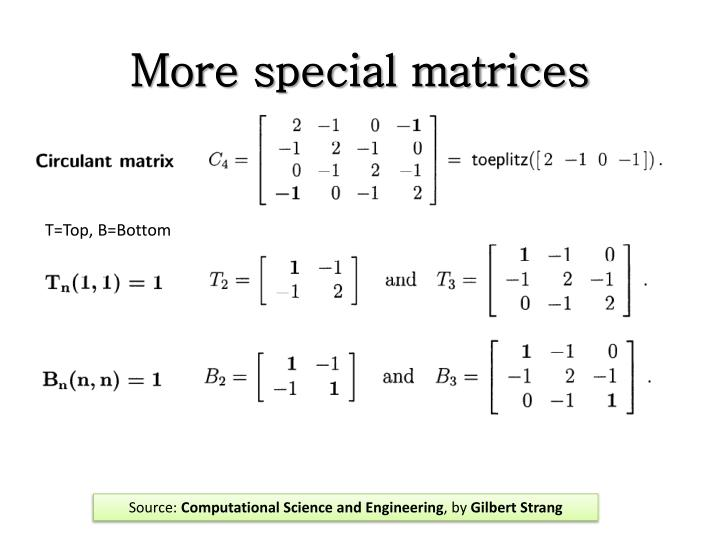 More special matrices