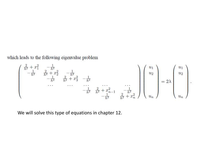 We will solve this type of equations in chapter 12.