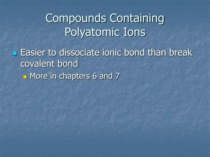 Compounds Containing
