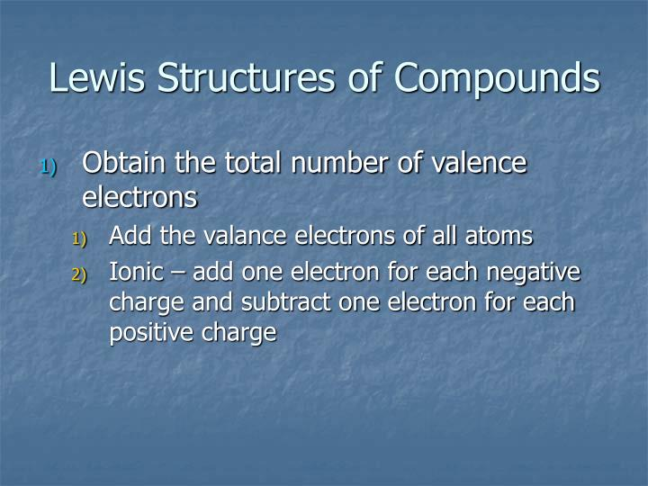 Lewis Structures of Compounds