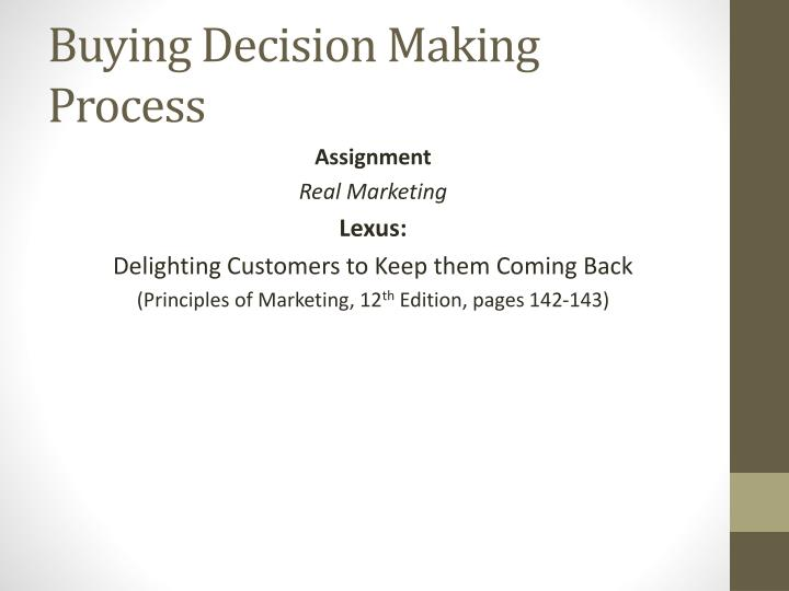 Buying Decision Making Process