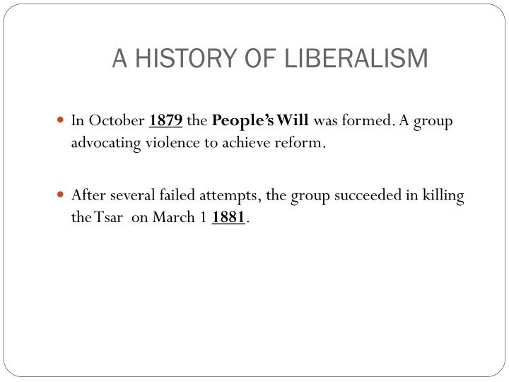 a history of liberalism A podcast about the history of liberalism today's episode is about the small topic of the 19th century we try to sketch the outlines of the most important historical events that went down during this time in order to better understand the world liberalism evolved in.