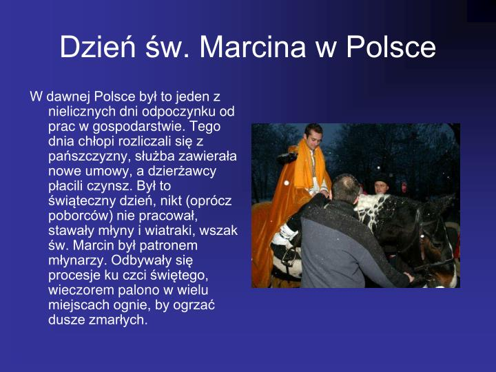 Dzie w. Marcina w Polsce