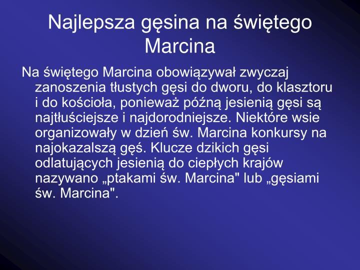 Najlepsza gsina na witego Marcina