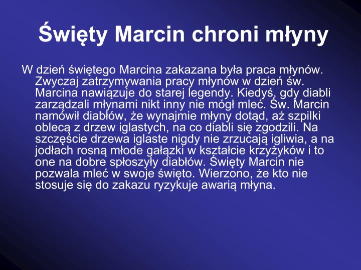wity Marcin chroni myny