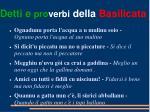detti e pro verbi della basilicata