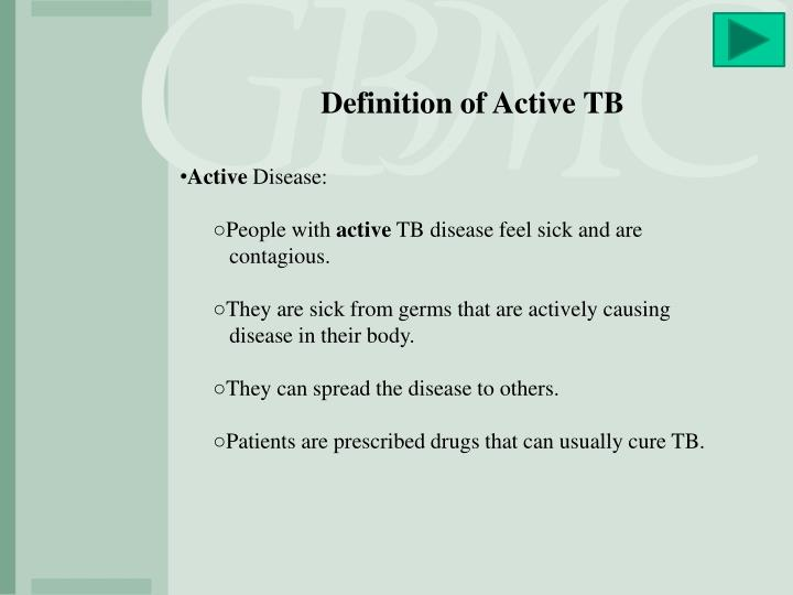 Definition of Active TB