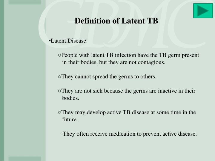 Definition of Latent TB