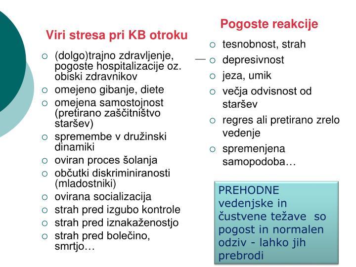 Viri stresa pri KB otroku