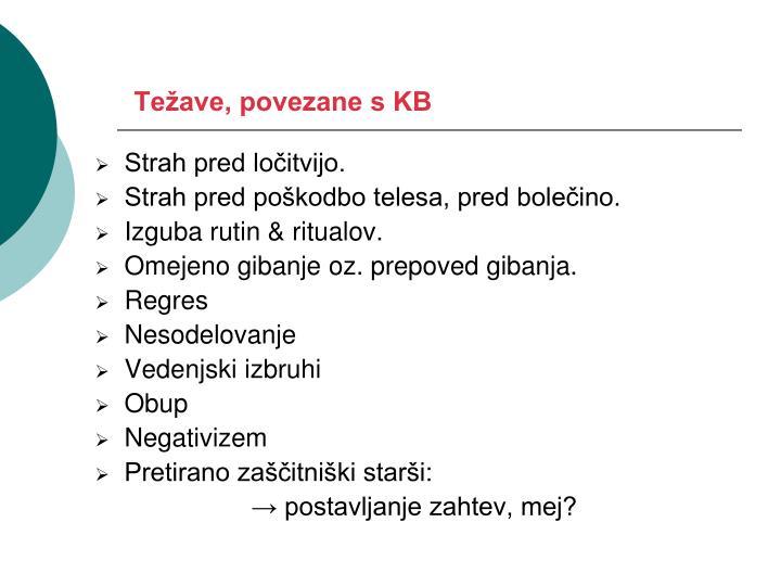Težave, povezane s KB