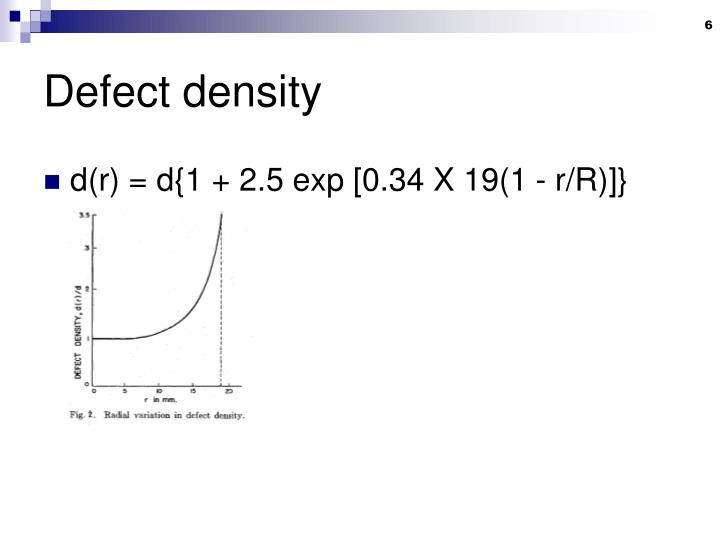 Defect density