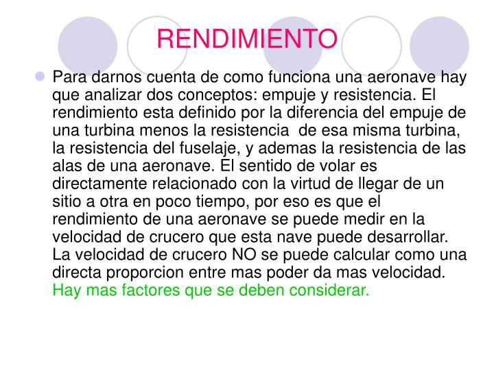 RENDIMIENTO
