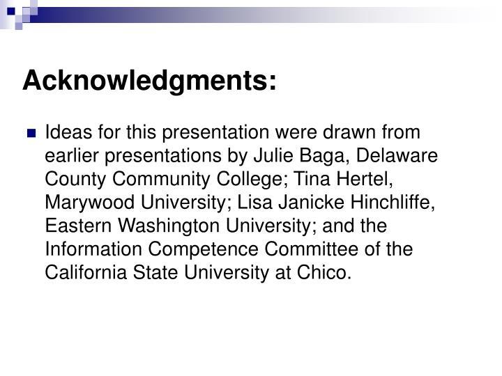 Acknowledgments: