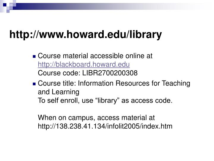http://www.howard.edu/library