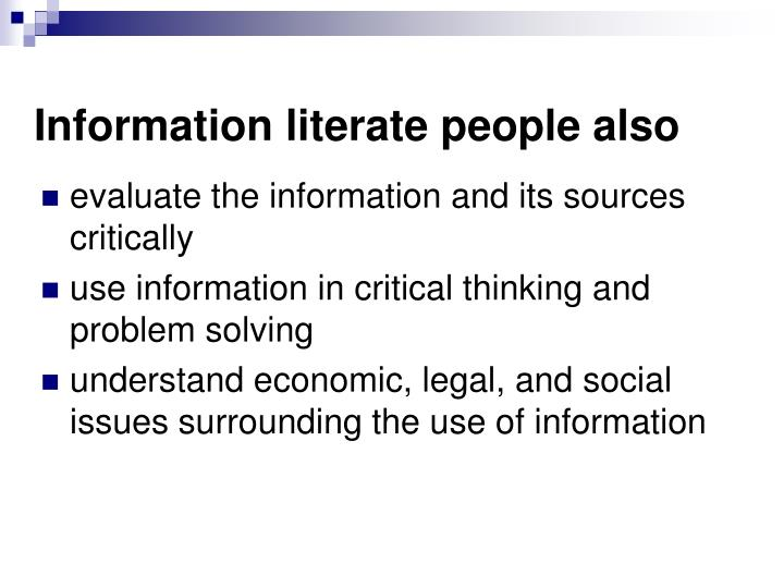 Information literate people also