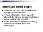 information literate people