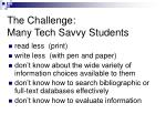 the challenge many tech savvy students